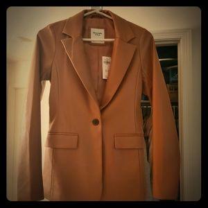 Abercrombie & Fitch Faux Leather Blazer